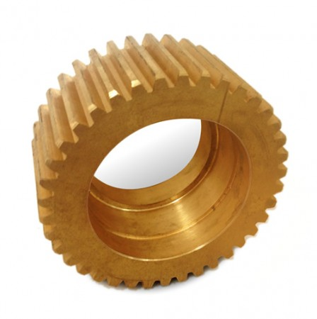 aluminium bronze gear cut in slotting machine